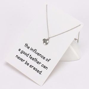 Jewelry - Teacher Appreciation Apple Leaf Necklace & Card